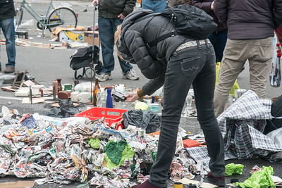 Photographer finds art in the rubbish at the Open street market in Vienna, Austria.