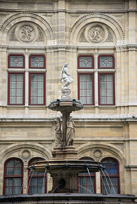 Outside the Vienna State Opera, Vienna, Austria.