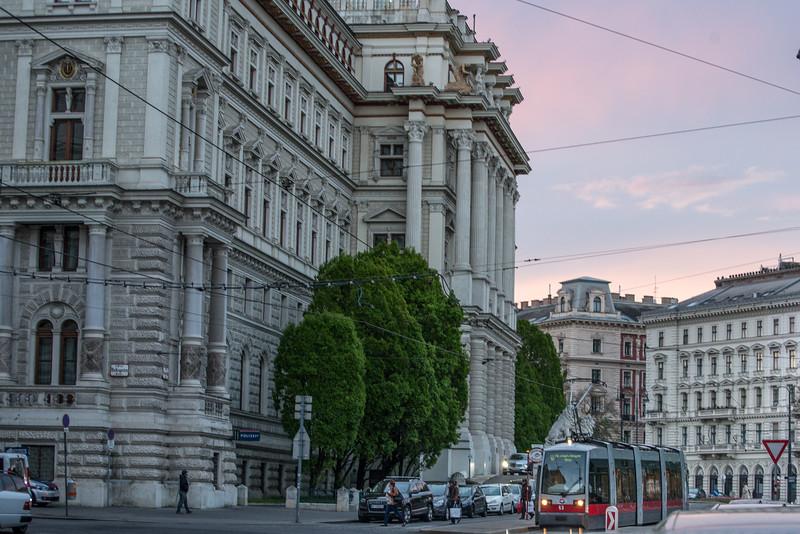 Vienna at dusk