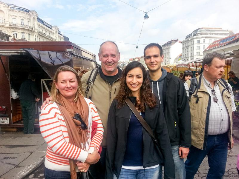 Michala and Christian, Naaschmarket, Vienna