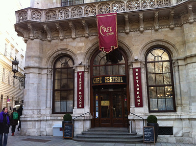 Cafe Central -- formerly frequented by such notables as Adolf Hitler and Leon Trotsky.  Vienna has a lot of history.
