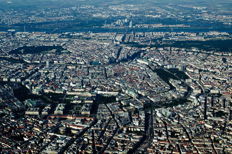 Areal view of Central Vienna.