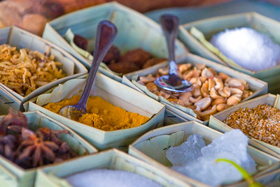 A range of Vietnamese herbs and spices