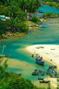 Fishing boats at anchor - Quy Nhon - Vietnam
