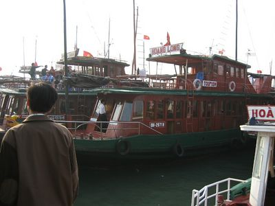 The marina at Ha Long City, December 2003