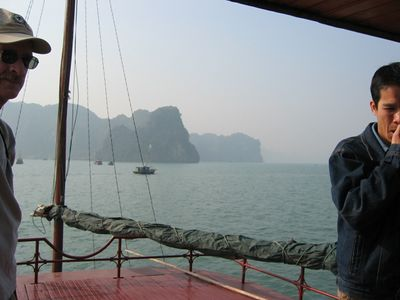 Approaching Thien Cung (Heavenly Palace) Grotto.