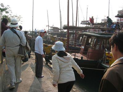 The marina at Ha Long City, December 2003