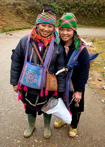 Two girls in Sapa