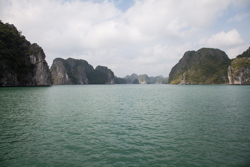 Scenery in Halong Bay.