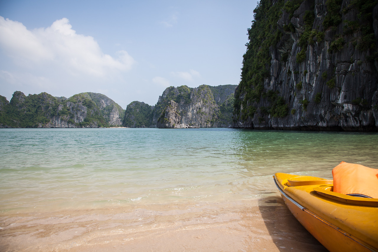 After kayaking for a while we paddled to a small island with a beach and relaxed for a while before heading back for lunch.