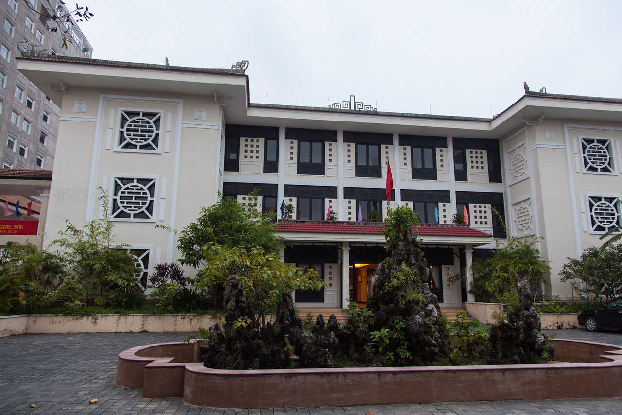 The exterior of Villa Hue - a very nice teaching hotel.