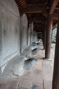 Stelae showing names of those that passed the emperor's exam inside the Temple of Literature.