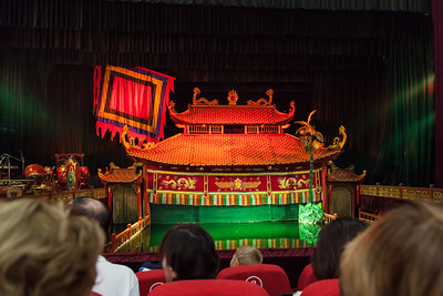 A view inside the water puppet theater before the show started.