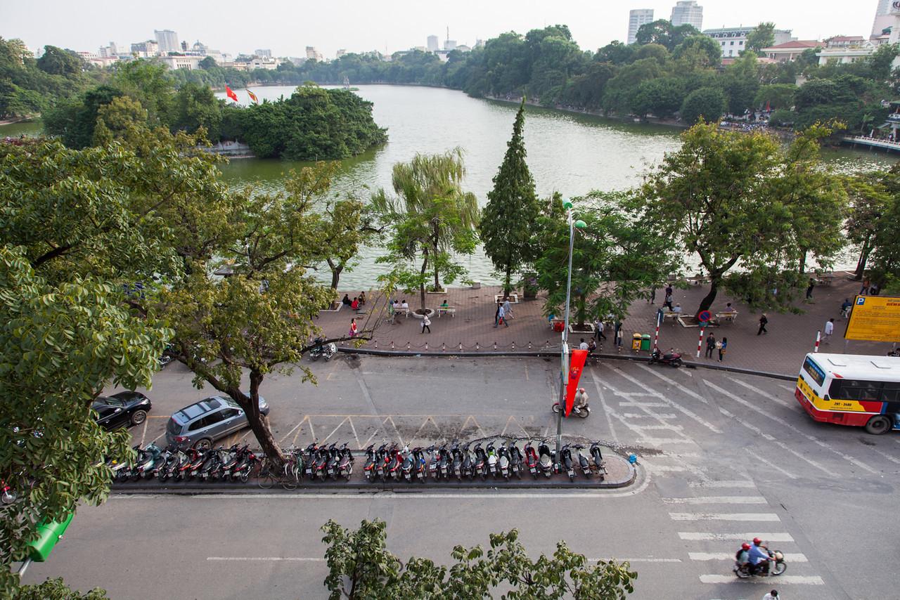 A view of Hoan Kiem Lake.