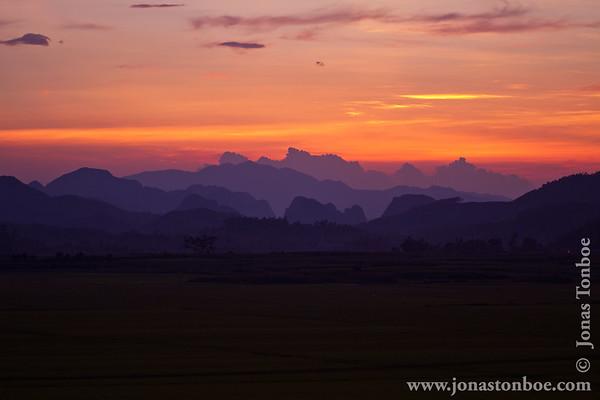 Phong Nha-Ke Bang National Park. Sunset