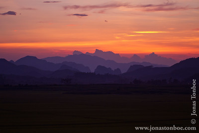 Phong Nha-Ke Bang National Park. Sunset