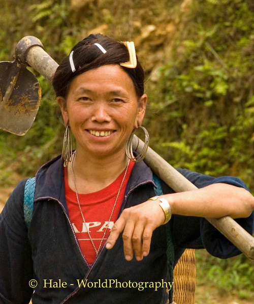 Hmong Woman Returning From Working in the Fields, Sapa Vietnam