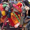 Three Hmong Hill Tribe Babies Asleep as Mothers Shop for Textiles, sapa Vietnam