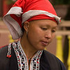Red Dzao Woman at Market in Sapa, Vietnam