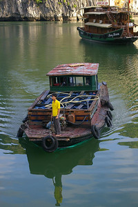 Ha Long Bay boats, courtesy Seikel Family