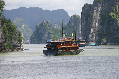 Ha Long Bay junks, courtesy Seikel Family