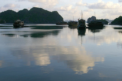 Ha Long Bay sky reflections, photo courtesy Seikel family