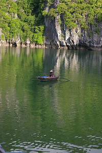 Ha Long Bay boat person, photo courtesy Seikel family