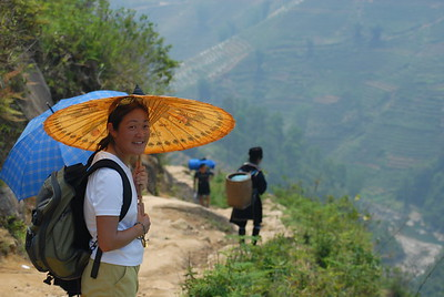 Hiking in the Muong Hoa Valley of Northern Vietnam.