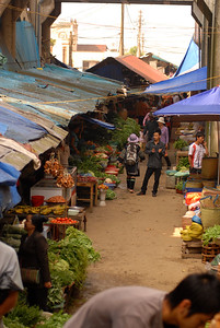 The central market in Sa Pa houses many booths selling all manner of produce and livestock.