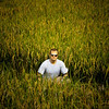 Dan in the rice fields.
