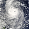 Image shamlessly stolen from NASA Earth Observatory.  This image was taken of Typhoon Ketsana just after it left the Philippines and was on its way to Vietnam.  Little did I know that I was in the path of it...