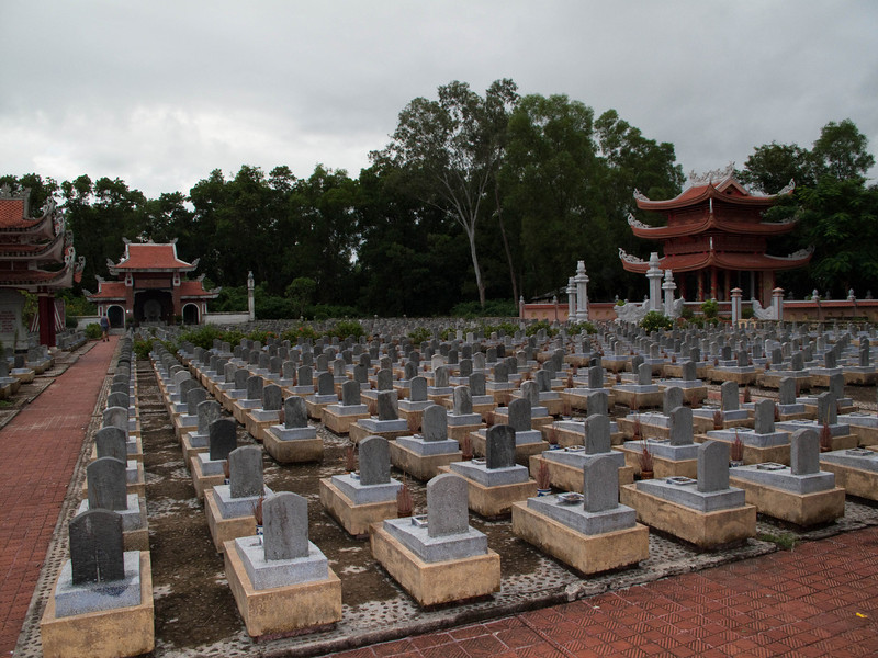 Truong Son Cemetery, well over 10,000 Vietnamese buried here.