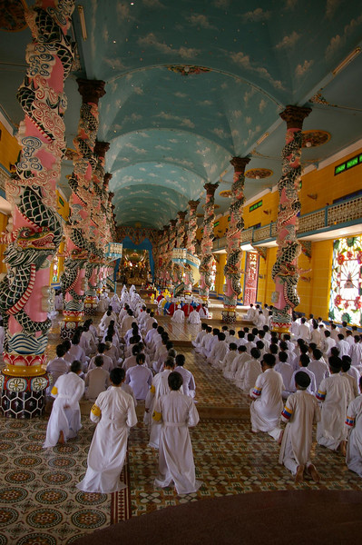 TayNinh temple interior