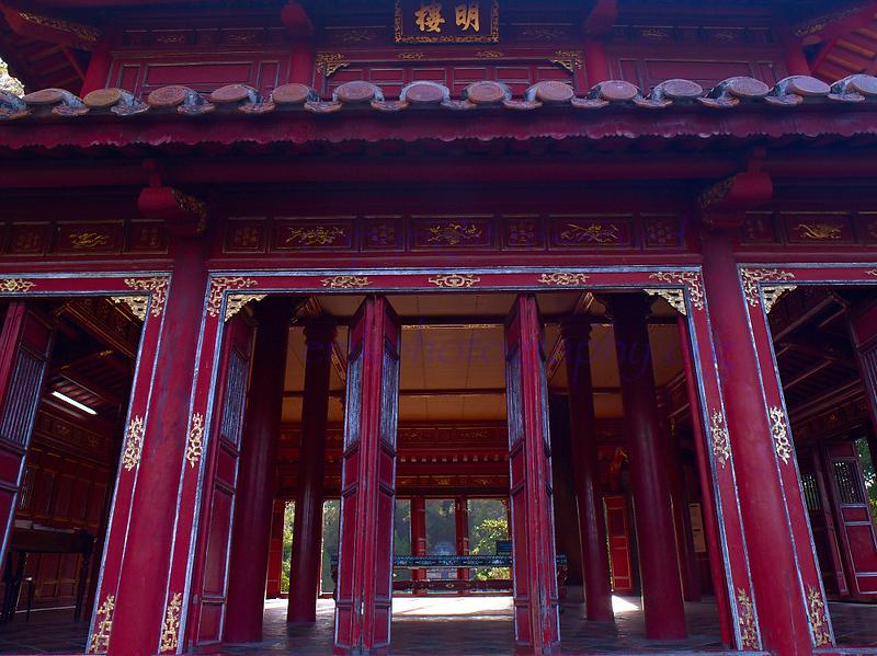 Vietnam HUE  Citadel  ceremonial hall