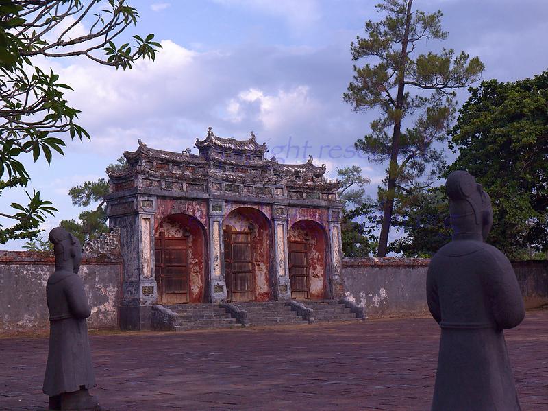 Vietnam HUE  Citadel side gate to garden