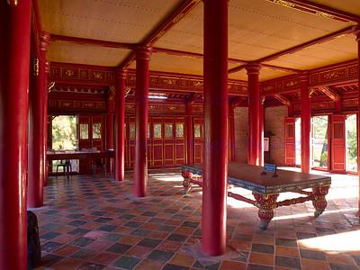 Vietnam HUE  Citadel tower  ceremonial hall