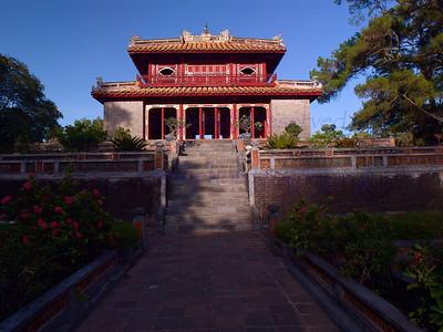 Vietnam HUE  Citadel inner courtyard