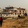 Embarking The Jahan for our Mekong Cruise