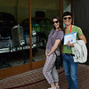 Liv and Tony posing with one of Ho Chi Minh's cars.