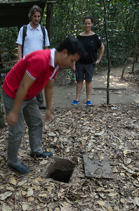 "Tunnel ""entrance"" to Cu chi tunnels"