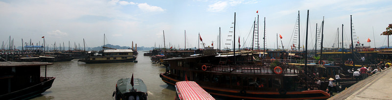 The harbour at Hai Phong. A complete madhouse of tour groups coming and going.
