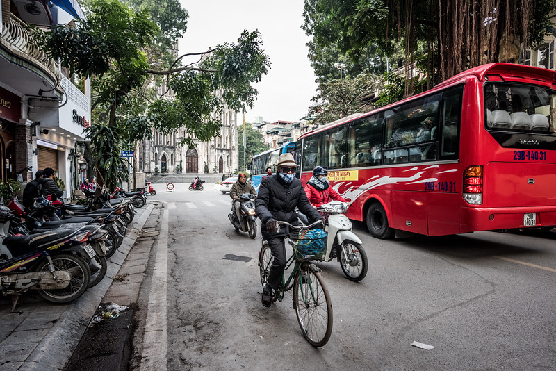 Streets of Hanoi, Vietnam in January 2018