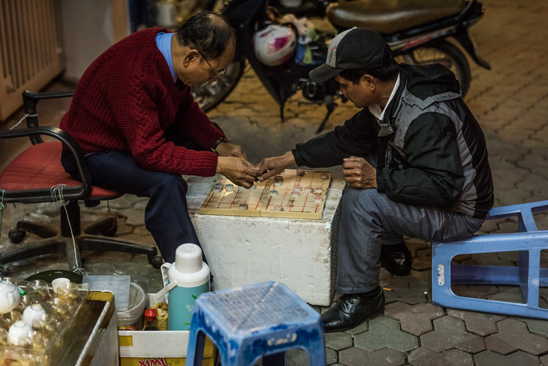 Streets of Hanoi, Vietnam in January 2018