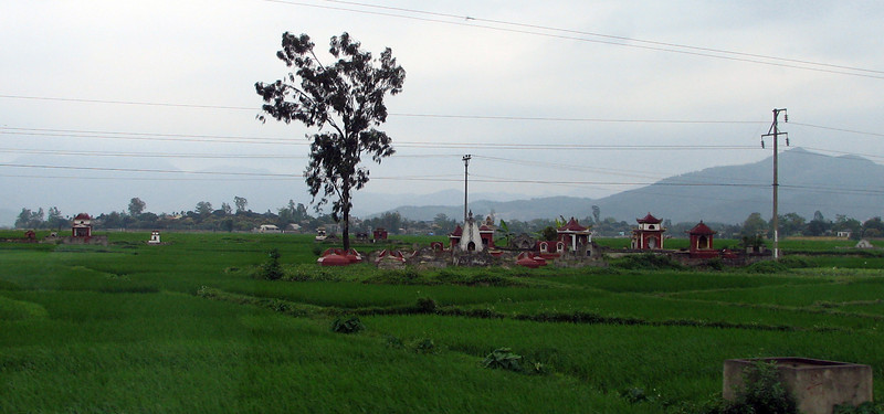 A traditional Viet graveyard on the outskirts of Hanoi