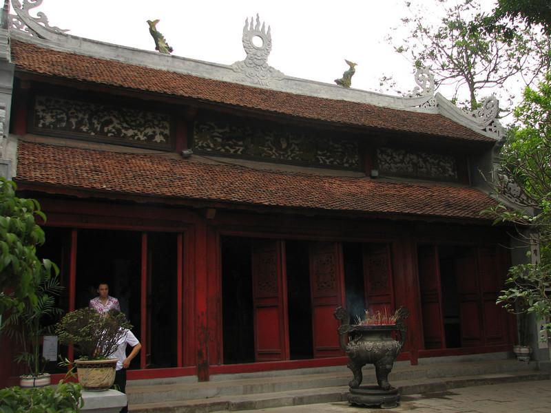The main sanctuary of NNgoc Son Temple