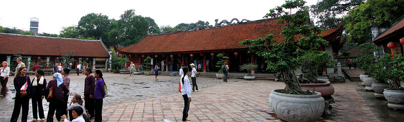 The main courtyard at the Temple of Lit.