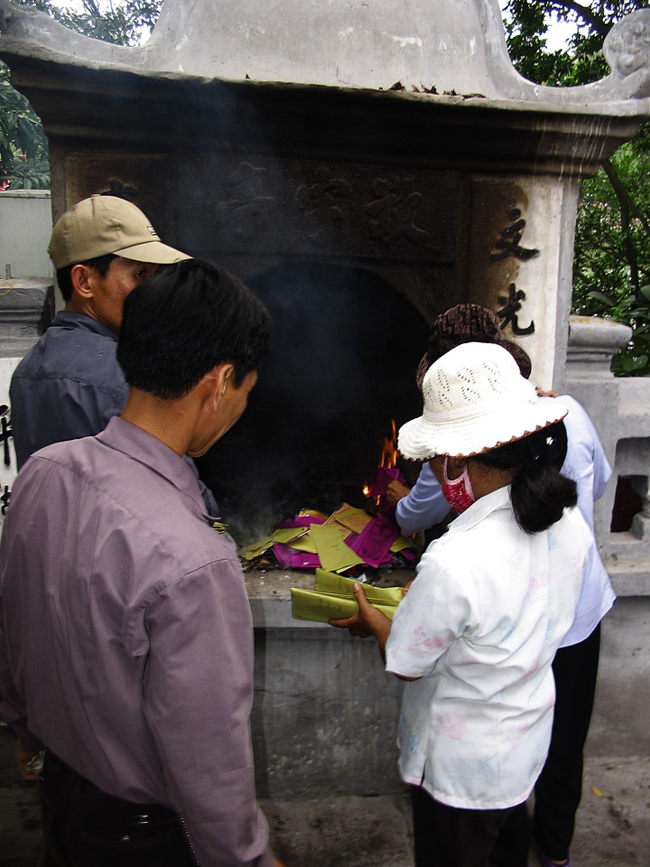 We were there around the turn of the lunar month, when families burn paper money for their ancestors.
