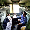 The sleeper cars accommodate six people on folding beds. I managed to get a compartment with only four beds.