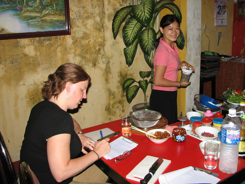 Hoi An is also know as a good place to taking cooking classes. Which we did.
