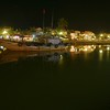 The Hoi An harbor at night.